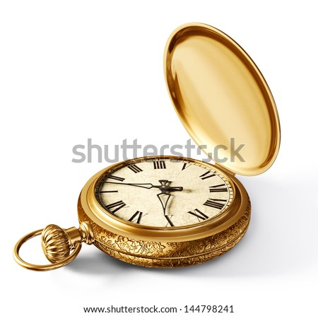 vintage watch isolated on a white background Foto d'archivio ©
