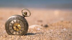 Vintage Watch On Beach