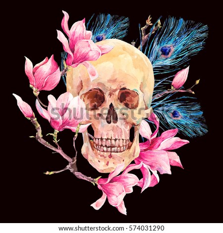 Vector illustration of skull and flowers day of the dead fashion t vector illustration of skull and flowers day of the dead fashion t shirt point summer bright background ez canvas mightylinksfo