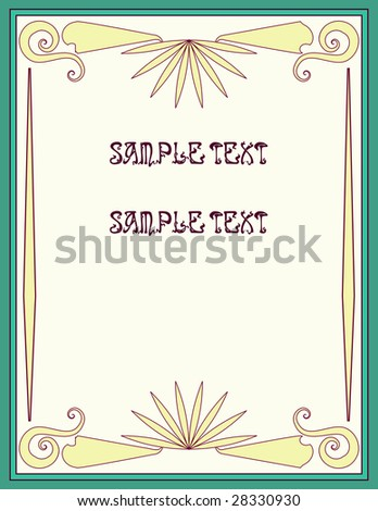stock photo Vintage wedding background template