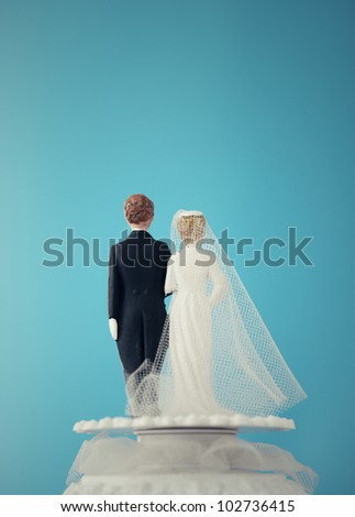 Vintage Wedding Cake Dolls