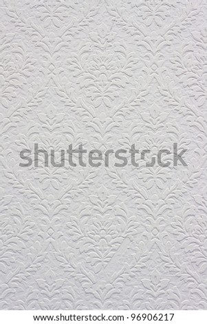 Vintage white floral pattern, wallpaper for background