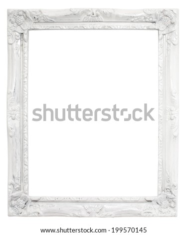 vintage white frame with blank...