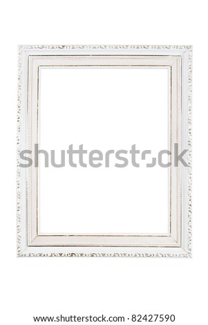 Vintage white frame with decorative ornamets.