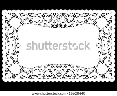 Lace Doily Place Mat. Antique Border Design, Vintage Pattern, White ...