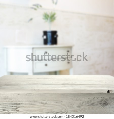 vintage, white table