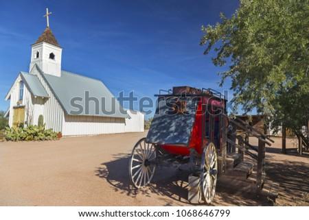 vintage wild west stagecoach in ...