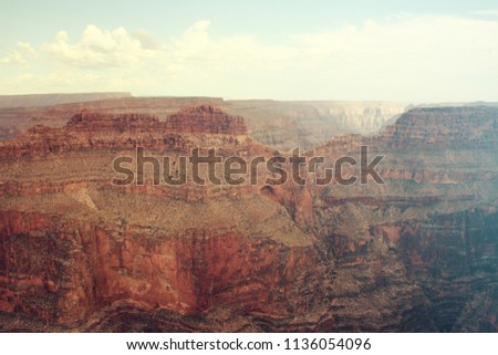 Vintage, Wild West-style Landscape of Grand Canyon National Park in Arzizona, USA
