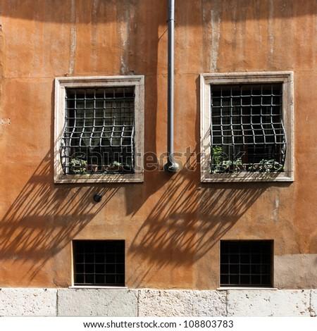 Vintage window and Rain Water Tube, Italy