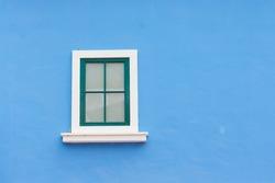 vintage window on color wall
