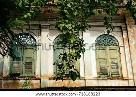 Vintage window panel #718188223