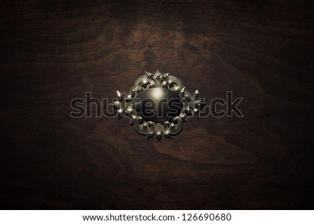 Vintage wood box with silver decoration
