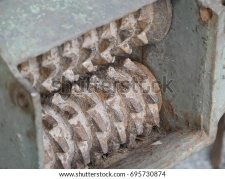 vintage wood chipper machine....