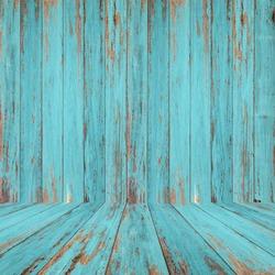 Vintage wood room with peeling paint.