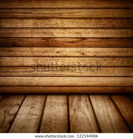 Vintage wood wall and floor backdrop