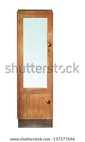 Vintage wooden cabinet isolated on white background #137377646