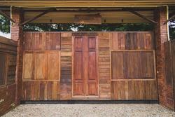 Vintage wooden door of house