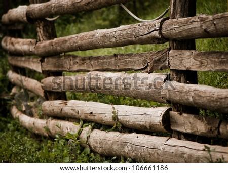 vintage wooden fence