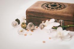 Vintage wooden jewellery box.