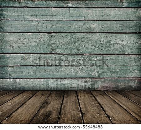 vintage wooden planks interior as background