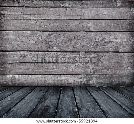 vintage wooden planks interior as background