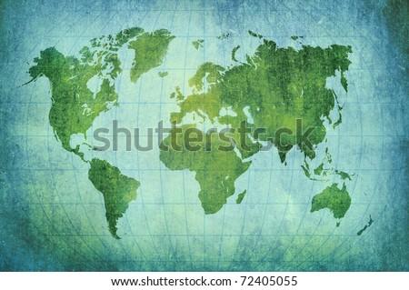 vintage world map background