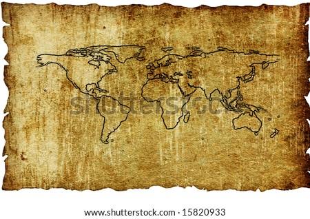 Vintage world map. Map backgrounds.