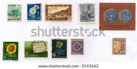 Vintage World Postage Stamp Ephemera (editorial) collection