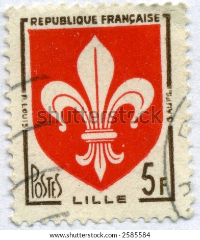 Vintage World Postage Stamp Ephemera  france (editorial)