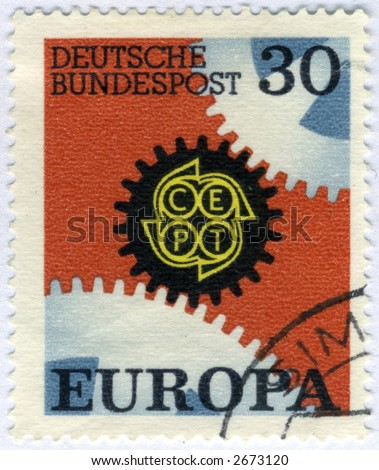 Vintage World Postage Stamp Ephemera germany(editorial)