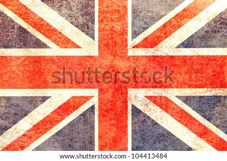 Vintage worn look United Kingdom Flag