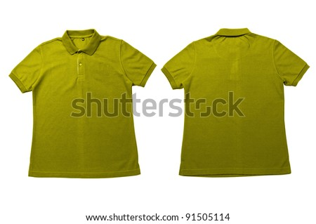 15f2d8223 Vintage Yellow color Polo Shirt with white background Men Front and back  Polo Shirt #91505114 · Blank yellow t-shirt isolated ...