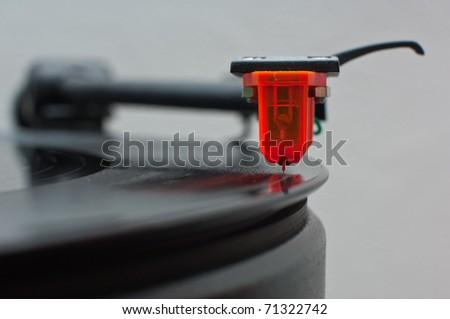 vinyl cartridge front view