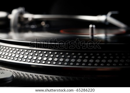Vinyl disk player