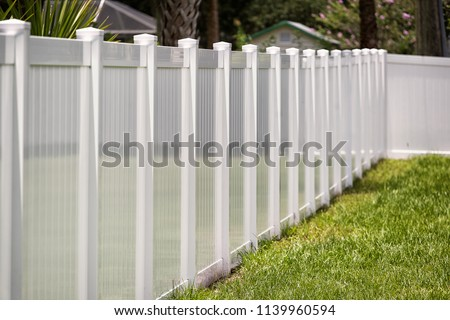 Vinyl Fence Solid Privacy  #1139960594