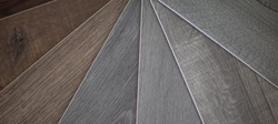 Vinyl flooring samples in a swatches format
