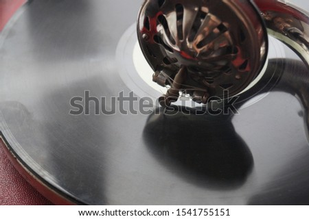 vinyl record and red record player #1541755151
