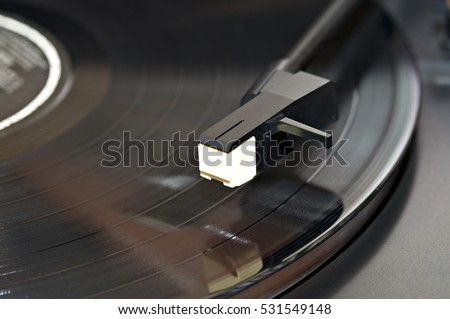 Vinyl record being played #531549148