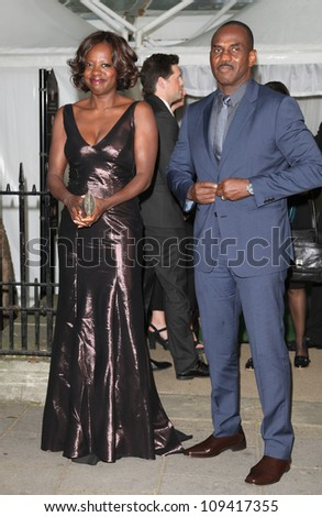 Viola Davis and husband Julius Tennon arriving for the Glamour Women Of The Year Awards 2012, at Berkeley Square, London. 29/05/2012 Picture by: Alexandra Glen / Featureflash