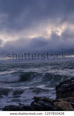 Violent waves LLangranog  #1297850428