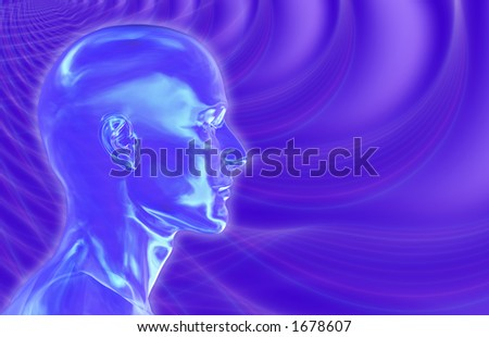 Violet Brainwaves Background