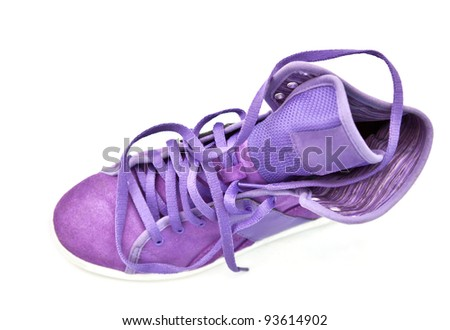 violet bright isolated sport shoe