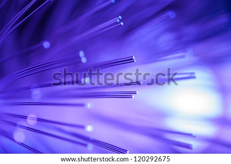 Violet fiber optic background.