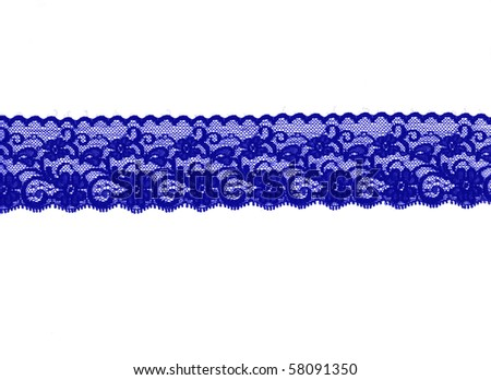 violet floral lace band isolated over a white background