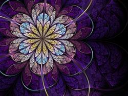 Violet fractal flower