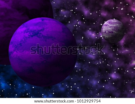 violet galaxy theme concept graphic design background illustrations