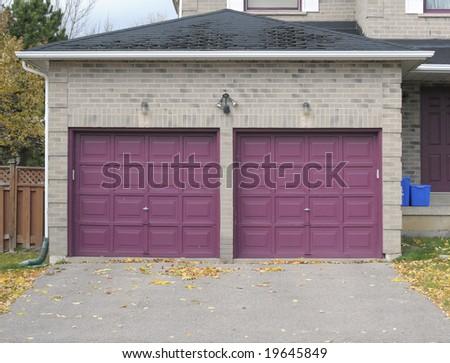 Violet garage doors