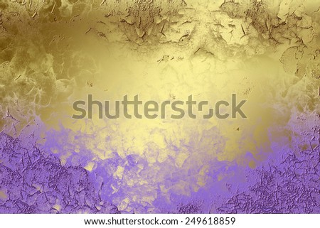 Violet golden abstract   background , with   painted  grunge background texture for  design .