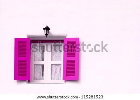 Violet greek style window.