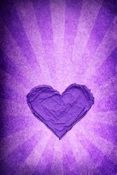 Violet heart paper